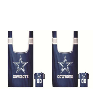 sale retailer 9d04b 90dbd Dallas Cowboys ( Set of Two ) Shopping Bag In a Pouch ...
