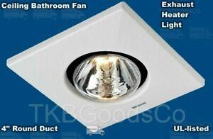 Bathroom Exhaust Ceiling Fan Heater Light Toilet White Home