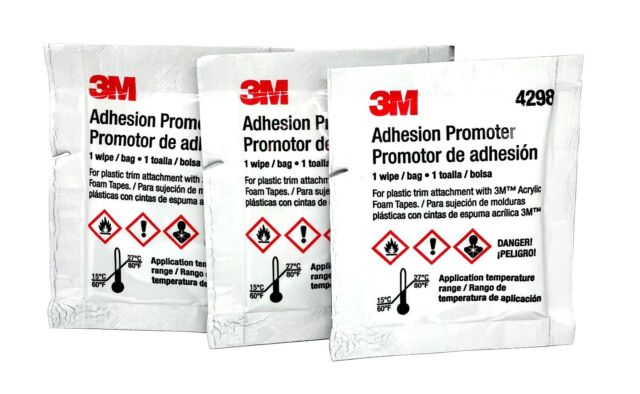 5 Adhesion Promoter Sponge for Acrylics Rubber Based Tapes 1 10 Pack Packet