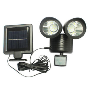 Solarleuchte-22-LED-Solar-Lampe-Bewegungsmelder-Gartenlicht-Wandleuchte-150-LM