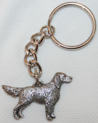 ENGLISH SETTER Dog Fine Pewter Keychain Key Chain Ring Fob
