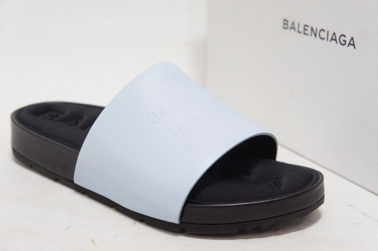 BALENCIAGA CLASSIC blueE  NUAGE SANDALS SHOES 38.5 7.5  635