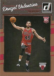 2016-17-Donruss-Basketball-163-Denzel-Valentine-RC-Chicago-Bulls-Rookie-Card
