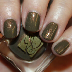 ESTEE-LAUDER-Nail-Polish-METALLIC-SAGE-Olive-Gold-Khaki-Green-BNIB-Holiday-FAB