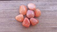 Six (6) Red Aventurine Tumbled Stones Medium/large Natural Tumble Stones