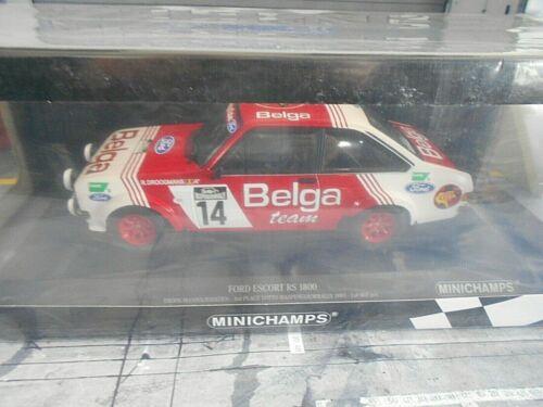 Ford Escort MKII Rallye rs1800 luntad #14 Droogmans haspengouw Minichamps 1:18