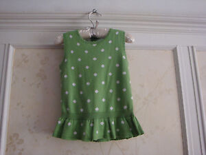 NWT JANIE AND JACK  Vibrant Garden GIRLS POLKA DOT SWEATER TOP 18 24  GREEN