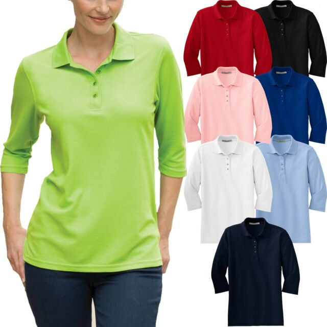 Premier Ladies 3//4 Sleeve Poplin Blouse Formal Easy Care Shirt Staff Work Wear