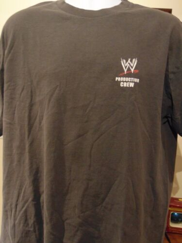 """WWE Production Crew """"Then Road That Never Ends"""" 2004 Men's T-shi"""