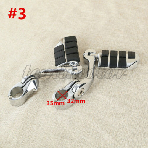 """32mm 1 1//4/"""" Engine Guard Highway Foot Pegs Footrests Mounting Clamps For Harley"""