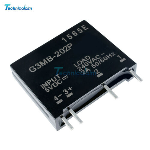 10PCS G3MB-202P DC-AC Solid State Relay Module PCB SSR In 5V DC Out 240V AC 2A