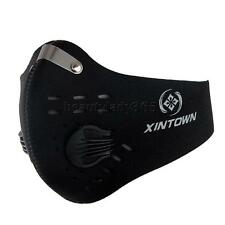 Anti Pollution Dust Proof Cycling Riding Running Face Mask with Filter Black
