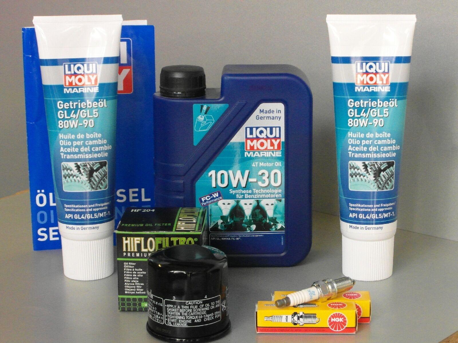 Wartungsset Mercury F 20 ab 2008 EFI   EFI Service Ölwechsel Öle Zündkerze Ölfilter 0a51ca