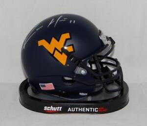 Kevin White Autographed West Virginia Mountaineers Blue Mini Helmet- JSA W *silv