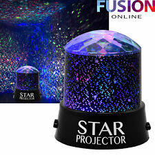 Star Projector Night Light Sky Moon Led Projector Mood Lamp Kids Bedroom New