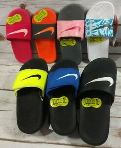 online store 5209f 9a83d Image is loading Nike-Kawa-Slide-OR-Adjust-Sandals-GS-PS-