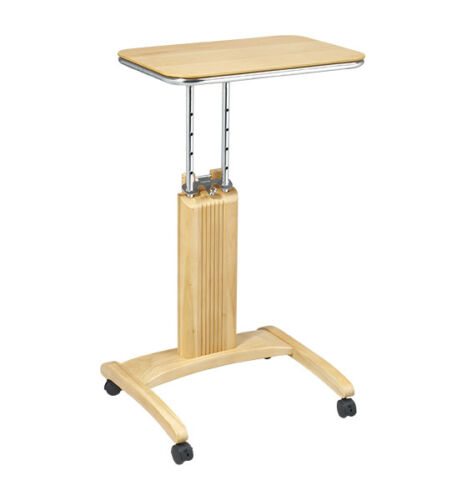MAPLE WOOD LAPTOP MOBILE COMPUTER TABLE PODIUM STAND