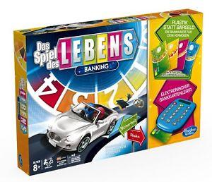 Hasbro-Spiel-des-Lebens-Banking-Familien-Brettspiel-deutsche-Version-NEU