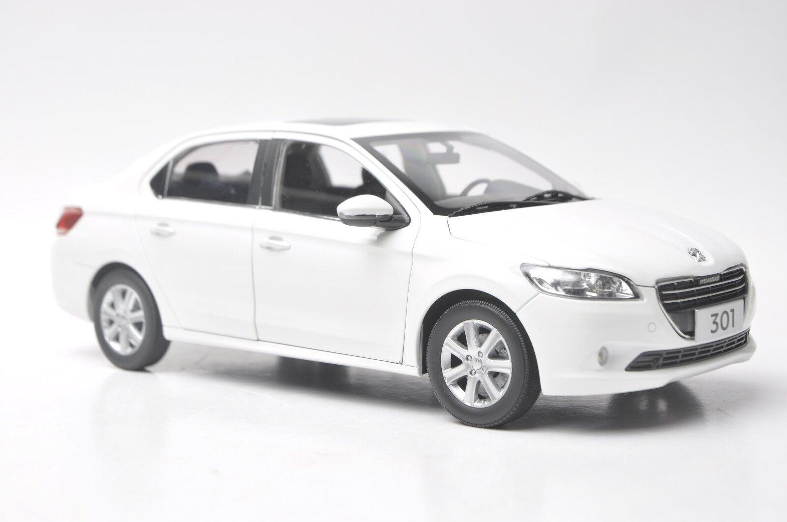 Peugeot 301 Sedan car model in scale 1 18 white