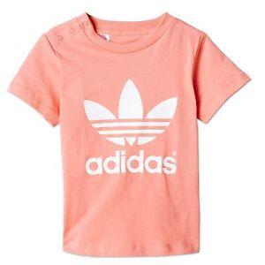 Details About Adidas Originals Lk Trefoil Tee Childrens Leisure Sports T Shirt Pink White