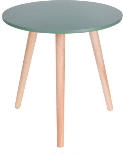 Dekorativer Holz Beistelltisch 40x39 cm Sofatisch Couchtisch rund 3 Farben