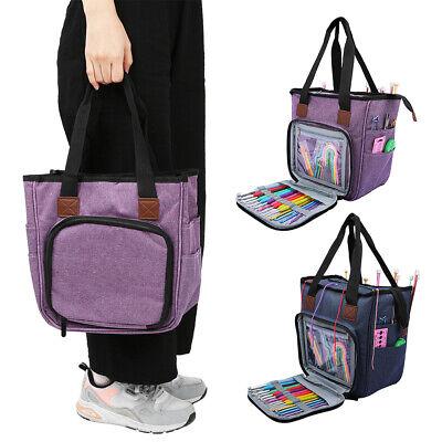 Durable Large Yarn Storage Bag Knitting Crochet Tote Organizer Holder Case