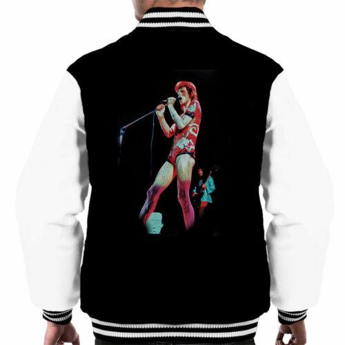 Debi Doss Official David Bowie Ziggy Stardust Odeon 1973 Men/'s Varsity Jacket