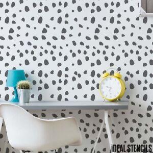 Wandschablone Kinderzimmer   Dalmatiner Punkte Wand Schablone Kinderzimmer Stoff Mobel Farbe