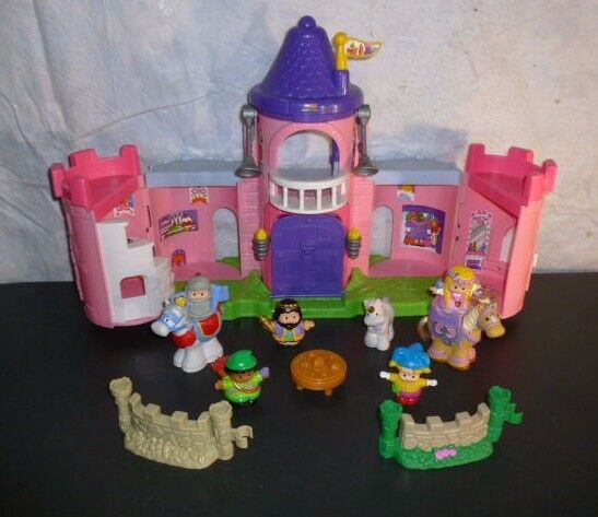 Fisher Price Little Little Little People Palace Pink Castle royal mary knight sounds cb9ffd