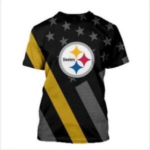 Man-039-s-T-shirt-Steeler-printed-O-neck-t-shirt-S-6XL-Short-Sleeve-T-shirt-3685