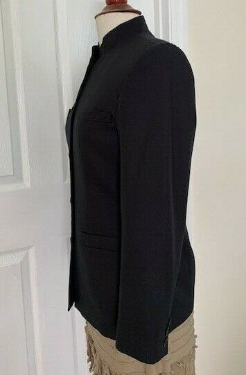 Talbot Women Black Jacket Size 4 Cotton/Silk Mand… - image 4