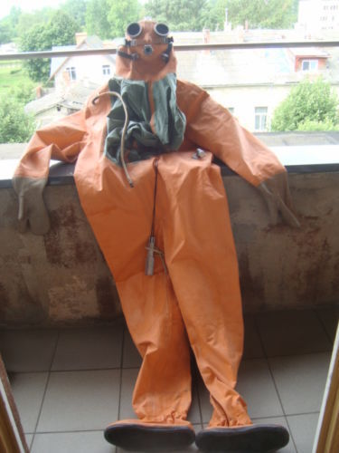 Russian Soviet divers rubber drysuit SGP for rebrether Ida New