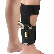 Ankle Holster Adjustable Neoprene Elastic Wrap Concealed Ankle Carry Gun Holster