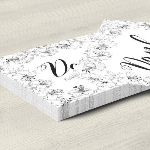 15 Trauer-Danksagungskarten Trauer-karten Umschlag edel Motiv Lilien Danke