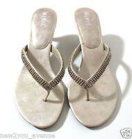 Mixit Womens Sandals Rhinestones Slipon Shoes Wed Kitten Heels 8.5 Mb Cyber Deal