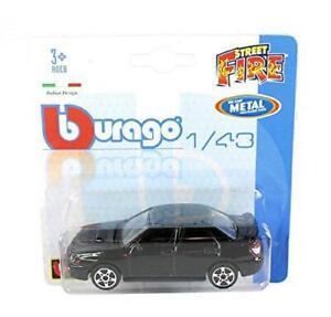 BURAGO-1-43-Diecast-Modello-Auto-034-Street-Fire-034-SUBARU-IMPREZA-WRX-STI-4dr-Nero