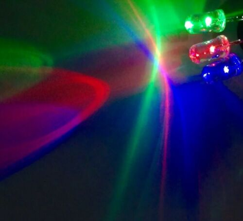20pcs Prewired 5mm RGB Slow LED DC 12V 20mA 5mm Clear Round Light Emitting Diode