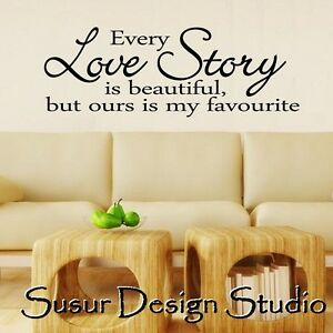 Wall-Quote-Sticker-Our-Love-Story-Wall-Art-Home-Decor-Decal