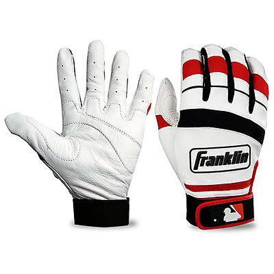 Franklin Classic II Adult Baseball / Softball Batting Gloves Red - S , M , L