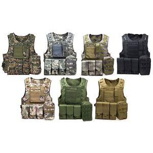 Image is loading Amphibious-Tactical-Military-Waistcoat-Combat-Assault-Plate -Carrier- 576ec70e771