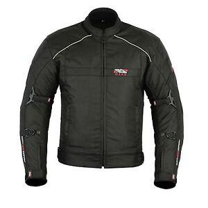 MCW-Gear-Black-Hawk-para-Hombre-Chaqueta-Textil-Cordura-Moto-Motocicleta-Ce-Blindado