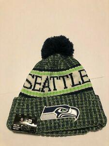f1710827 Details about Seattle Seahawks New Era Knit Hat On Field 2018 Sideline  Beanie Stocking Cap