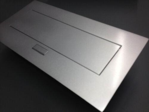Tischsteckdose Einbausteckdose 2fach USB Aluminium Wandsteckdose versenkbar