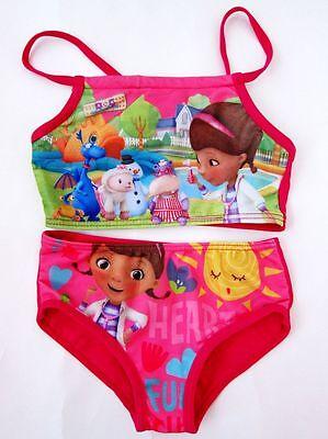 NWT Cute Disney Doc Mcstuffins Girls Two Piece Bikini/Tankini Swimsuits 2-8T #G1