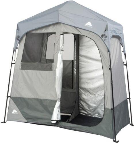 Outdoor Camping Solaire douches chauffée Boîtier 2 Pièce Abri Tente Vie privée Bain