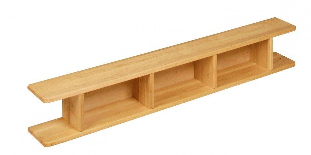 BioKinder™ Kaufladeneinsatz für Spielregal Regal Erle Massivholz 130x13x19 NEU