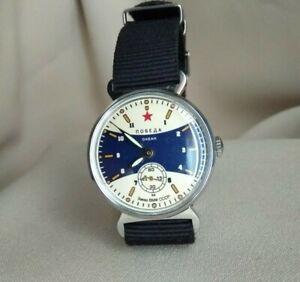Wrist-Watch-Pobeda-USSR-New-Nato-Strap-Serviced