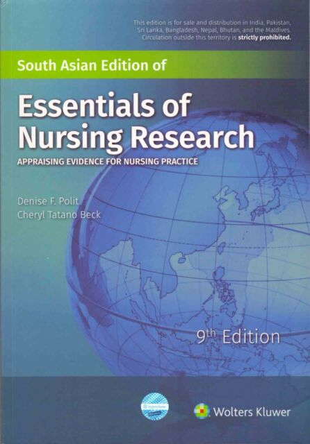 Essentials Of Nursing Research Appraising Evidence For Nursing Practice By Cheryl Tatano Beck And Denise F Polit 2017 Paperback Revised