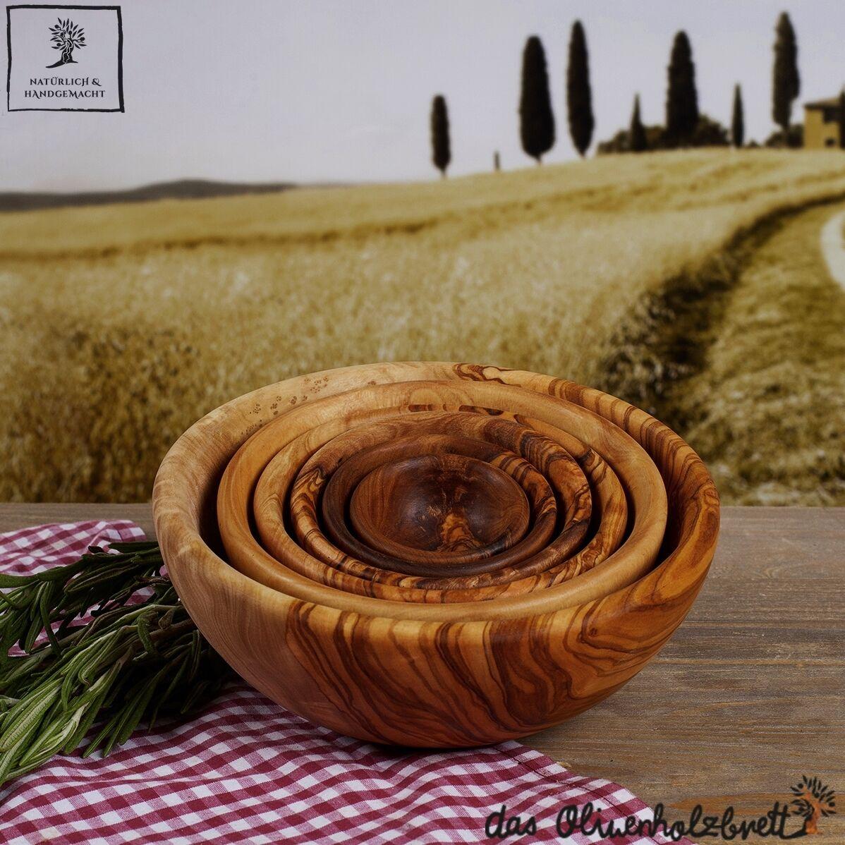 Set 6er coques de Olivenholz holzschale bol coupelle bol quelque bois