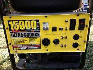 Generac Guardian Ultra Source Electric Start 15000 Watt Portable Generator Ebay